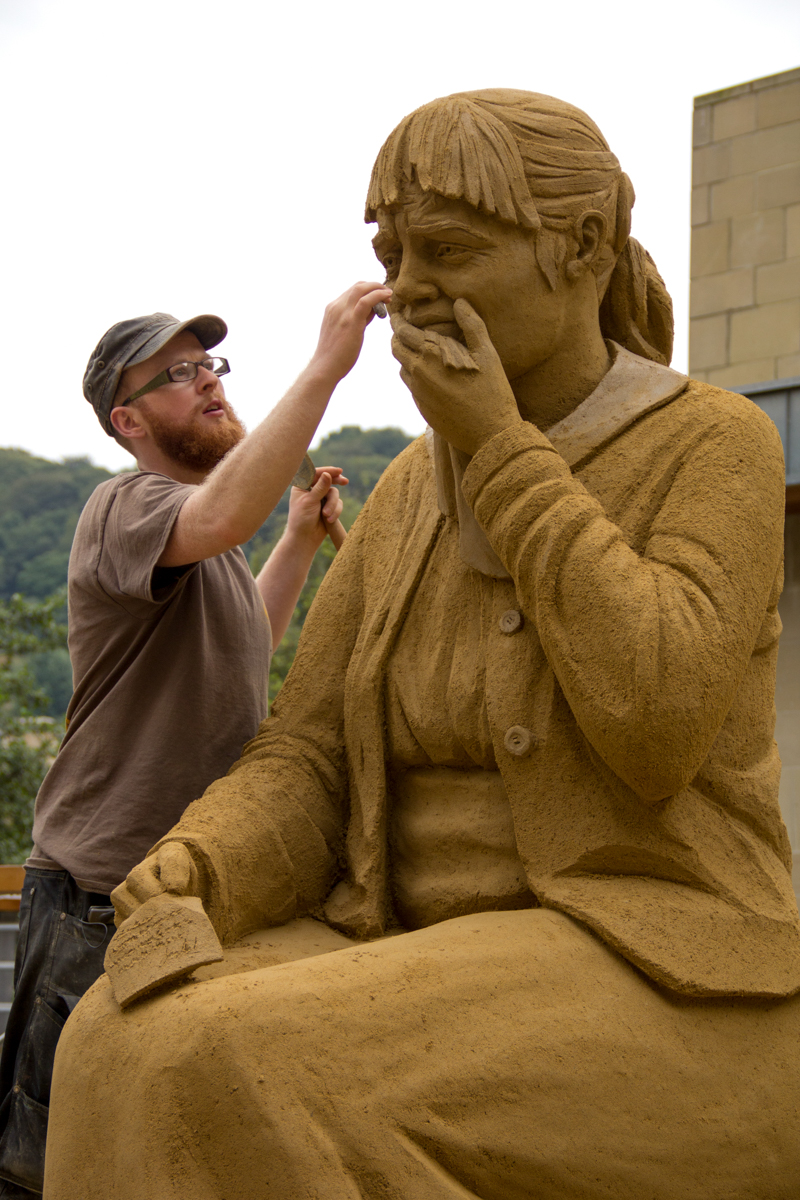 art installation hebden bridge sand sculpture