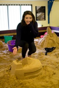 Sometimes they just fall down! Sand Sculpture Courses at Sand In Your Eye Studio