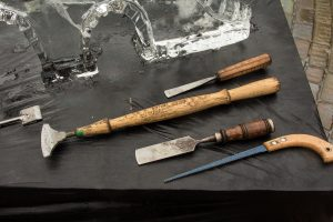 Ice carving tools for workshops