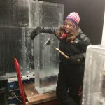 Claire can show you how to carve your own wedding ice sculpture