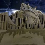 new york sand sculpture colombia sand artist