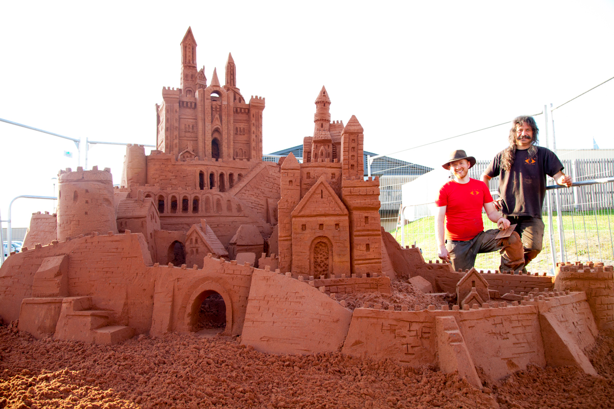 sandcastle giant sand sculpture events summer family events