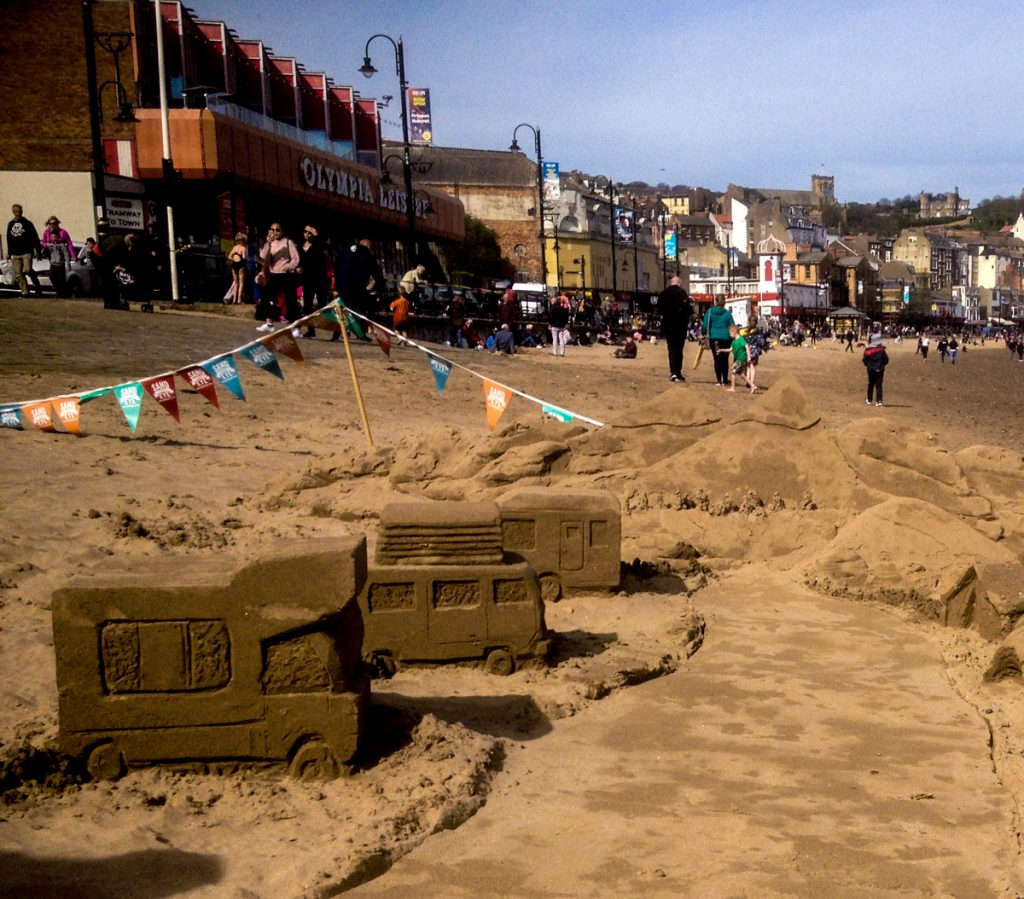 beach sand Sculpture north yorkshire Scarborough