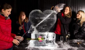 classy hen do ideas ice sculpture course