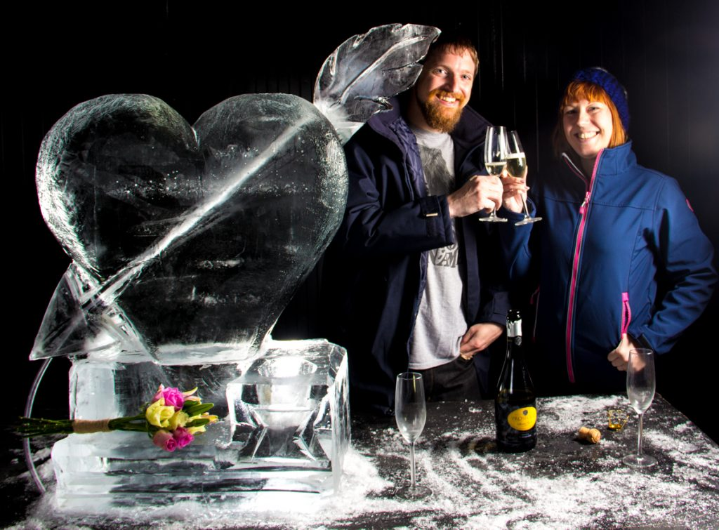 ice sculpture experience Yorkshire wedding