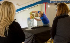 ice sculpture team building event yorkshire