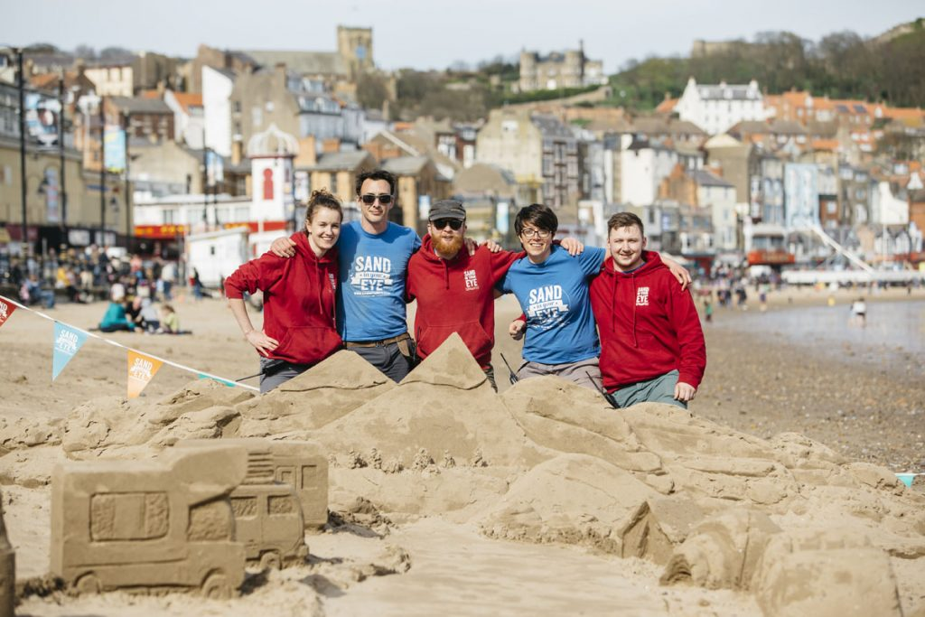 sand in your eye yorkshire sand sculptors pr events