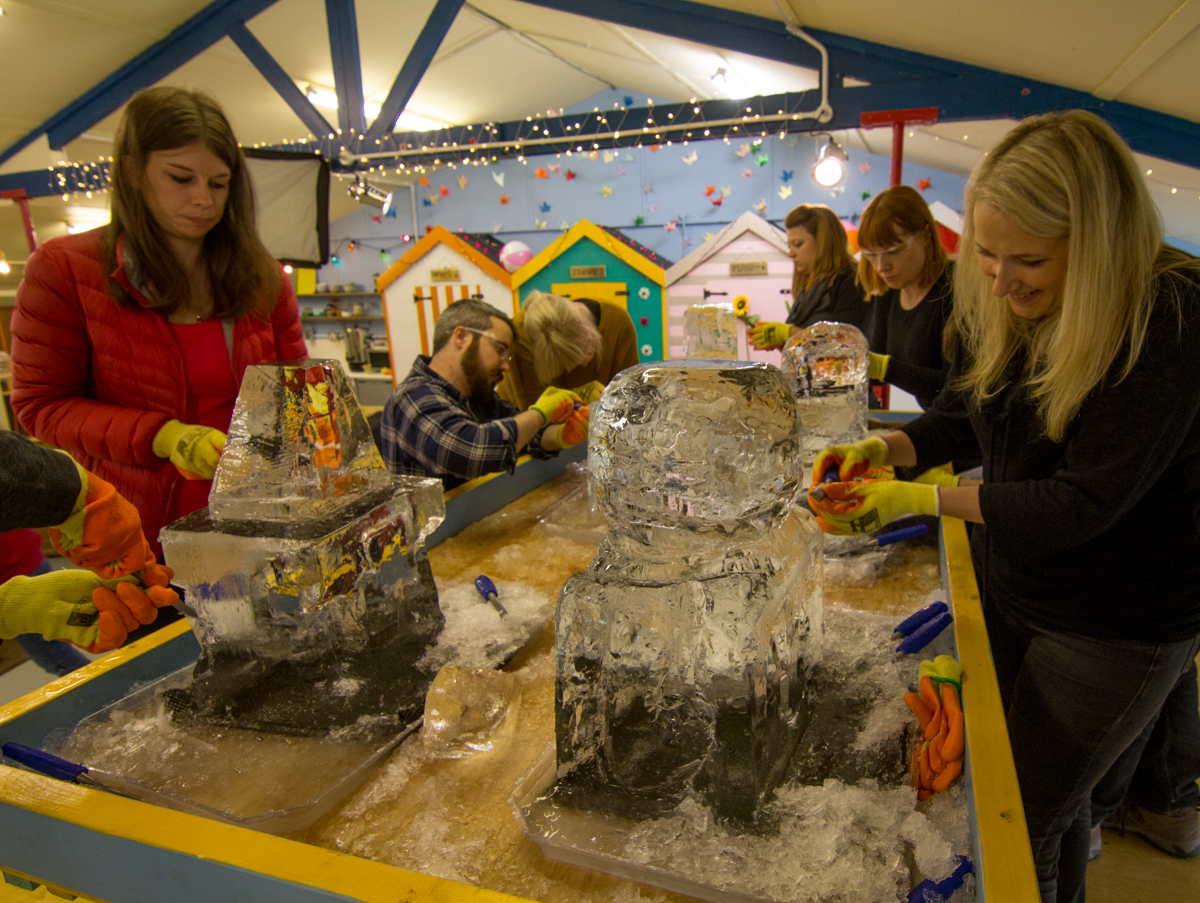team ice breakers sculpture workshops