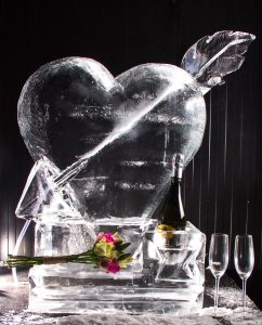 wedding decoration ice sculpture luge