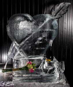 wedding events ice sculpture centrepiece yorkshire