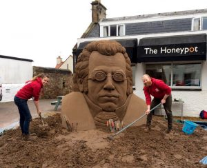 Another east neuk festival sand sculpture finished