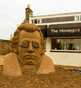 East Neuk Festival sand sculpture event scotland schubert