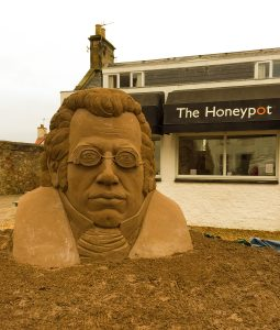 Franz Schubert sand sculpture Scotland