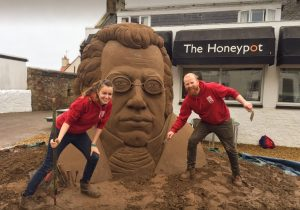 Schubert sand sculpture East Neuk Festival and Sand In Your Eye