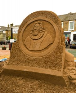 Thomas Kingo Crail composer sand sculpture