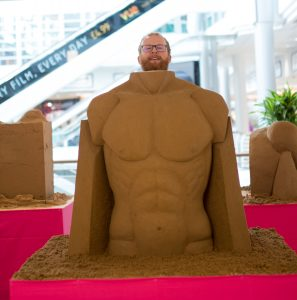 UK sand sculptor jamie wardley impressive torso