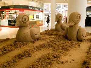 baby sand sculpture ducklings metrocentre