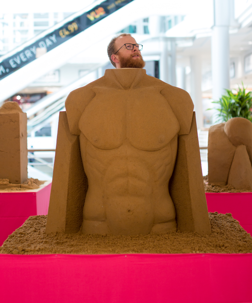 interactive sand Sculpture jamie wardley sand Sculptor