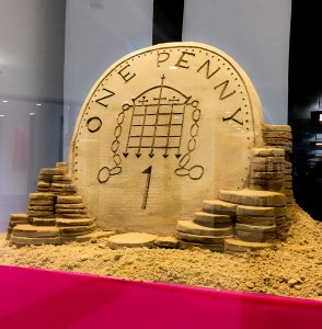 penny sand Sculpture summer event ideas