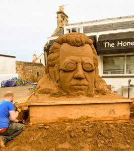 Sand sculpture progress sand art sand artist