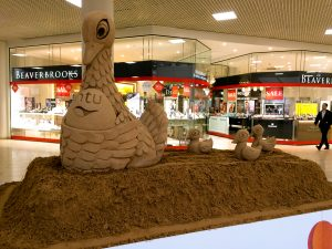 sand sculptures delivered gateshead newcastle shopping centre