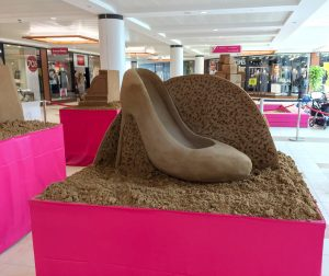 shoe sand Sculpture table top 1 day events