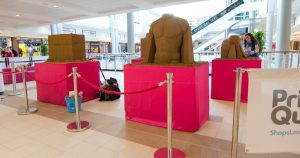 shopping centre events pop up sand Sculptures uk