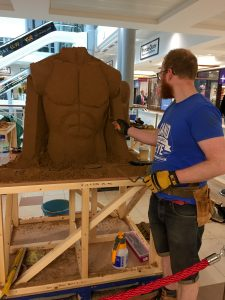 shopping centre events sand sculpture