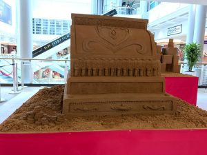 till cash register old fashioned sand Sculpture