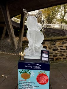 Little donkey christmas ice Sculpture trail