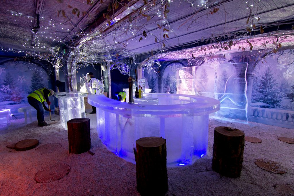 amazing ice bars england scotland horseshoe design