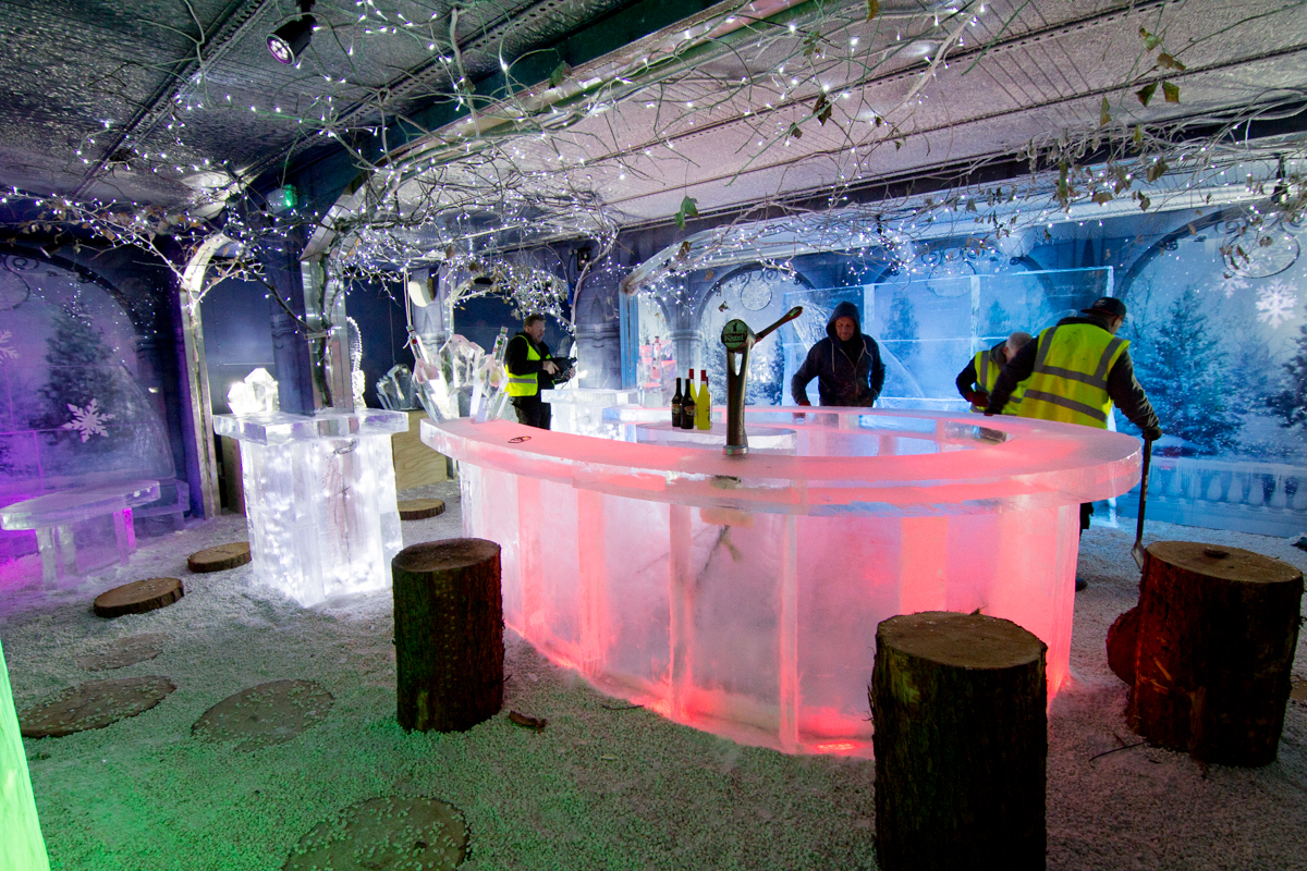 arctic ice sculptures ice bar christmas events