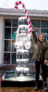 christmas fun events ice carving candy canes