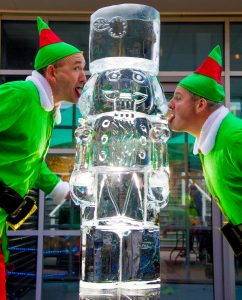 christmas ice Sculpture events lancashire yorkshire northeast scotland