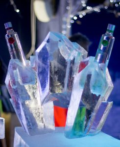 drinks luge ice sculpture bar promotion pr