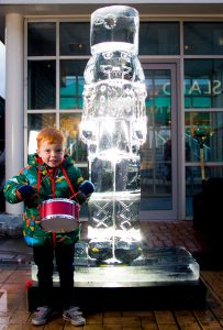 drummer boy nutcracker ice sculptors uk