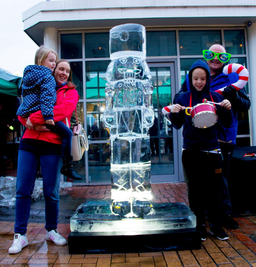 family christmas events lancashire ice sculpture