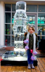 family fun events festive ice sculpture