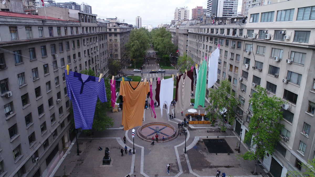 The Glue Society's giant washing line