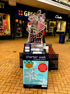 ice sculpture christmas town centre events burnley