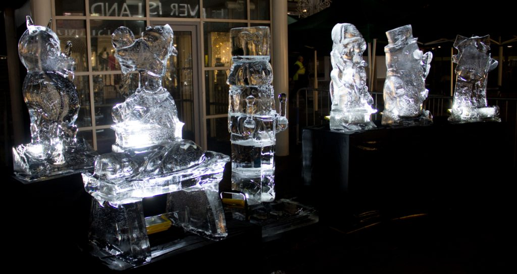 night time ice sculpture live events