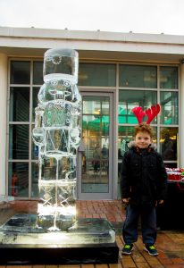 public engagement ice sculpture