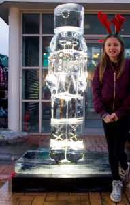 public interaction ice sculpture