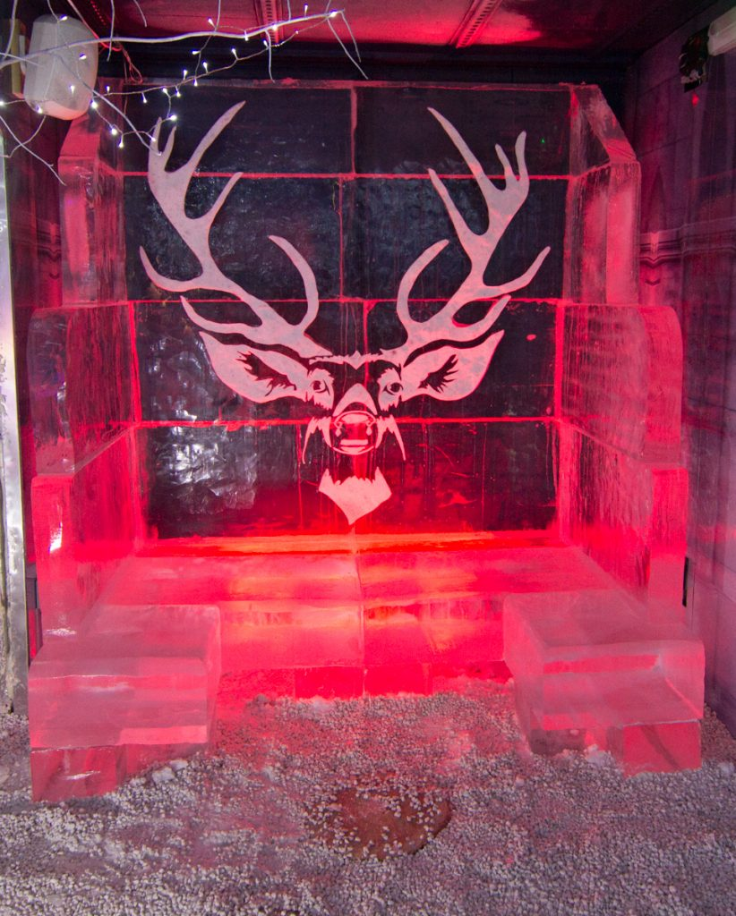 stag_ice_sculpture_booth_bar_nottingham