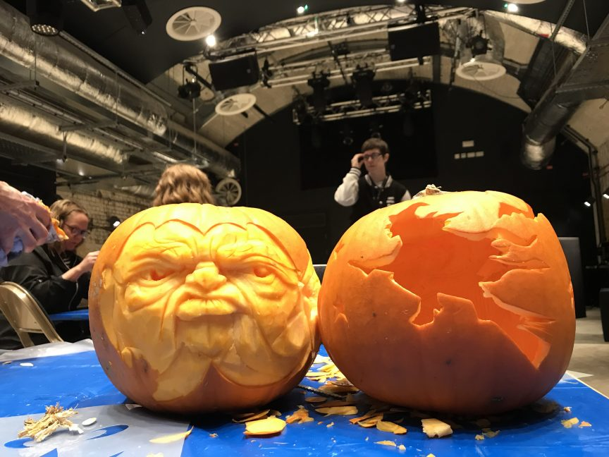 What can be achieved at the pop up pumpkin carving workshops