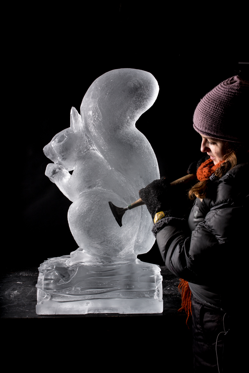 claire jamieson female ice sculptor uk