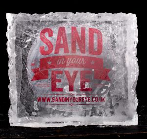 logo ice sculpture