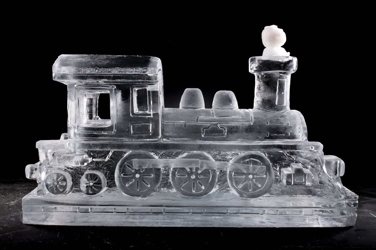 train ice sculpture