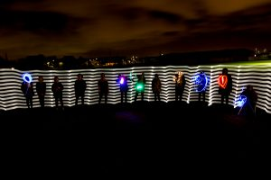 team building workshop light art