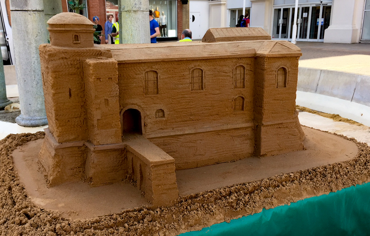 colchester castle sand sculpture